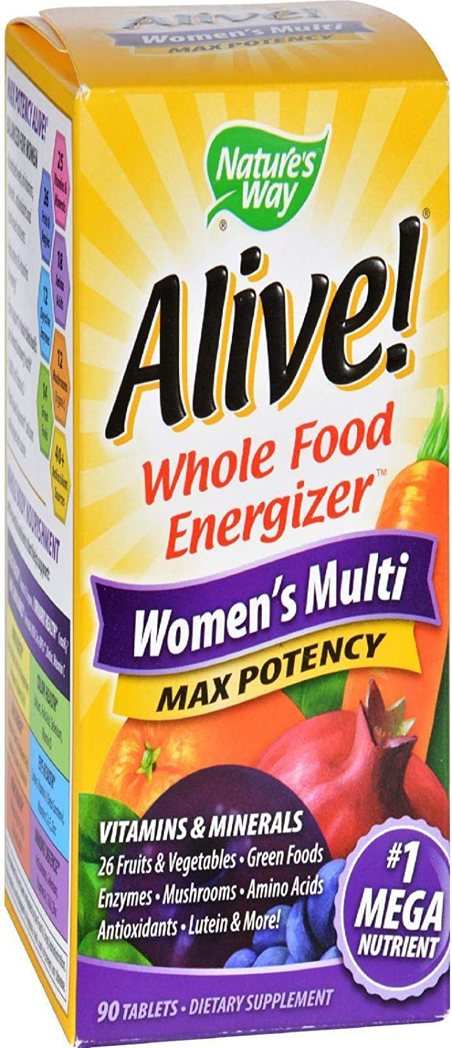 Alive Whole Food Energizer Women's Multivitamin (90 Tablets)