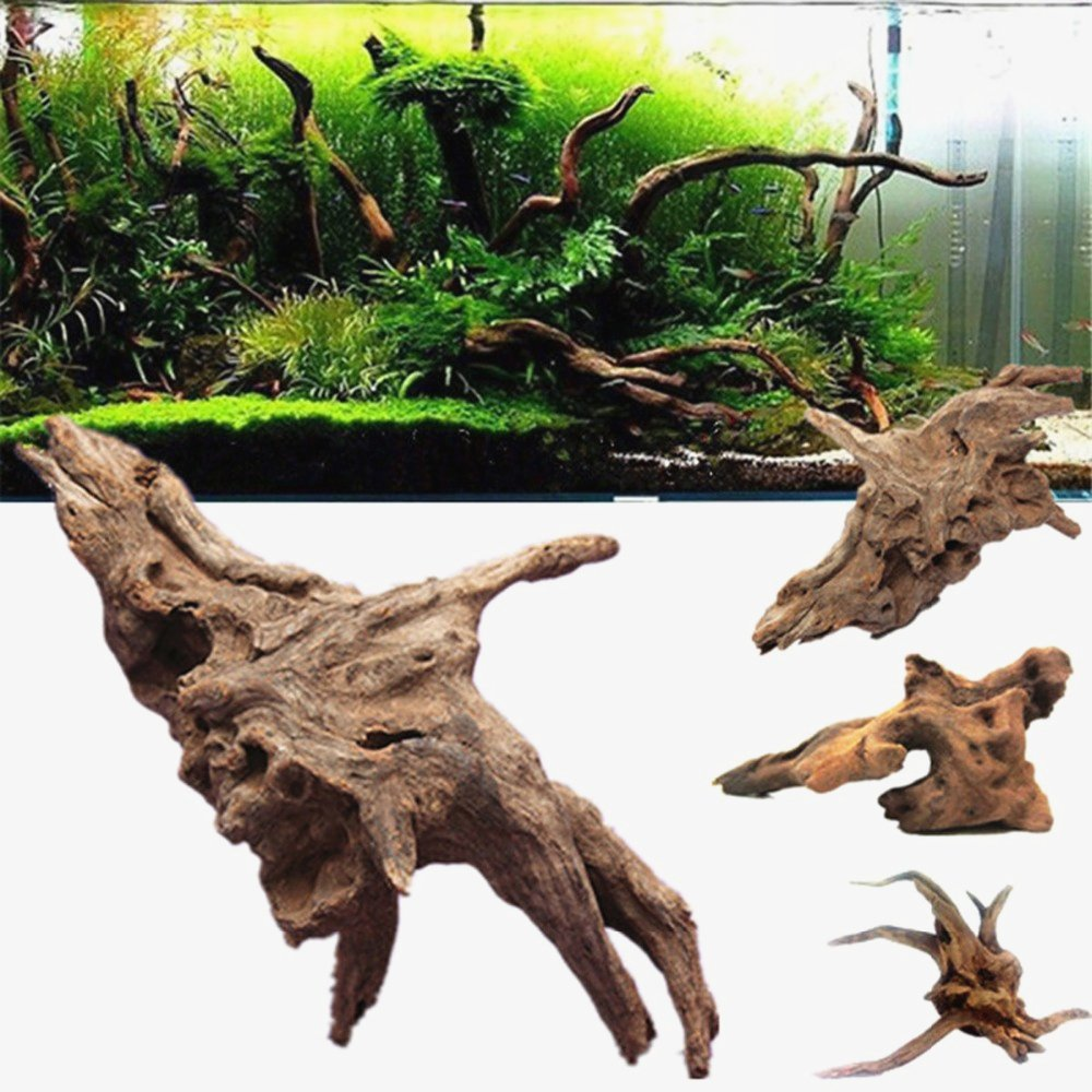 10-15cm Aquarium Fish Tank Trunk Driftwood Underwater Decor Ornament Decoration Fish Tank Plants Landscape Decor Muhan
