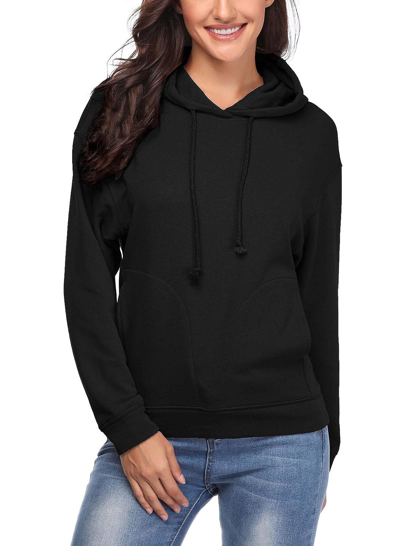 164b428cf819 VETIOR Women s Crew Neck Long Sleeve Pullover Hoodies Comfy Sweatshirts  Sweater at Amazon Women s Clothing store
