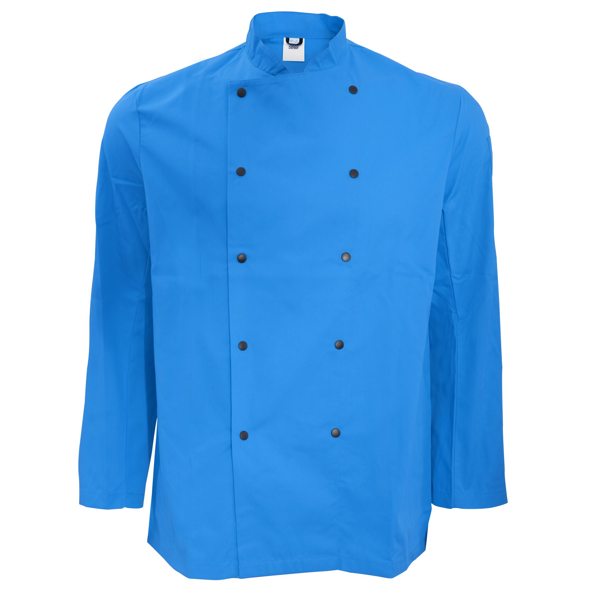 Dennys Unisex Long Sleeve Stud Button Chef Jacket (L) (Royal) by Denny's