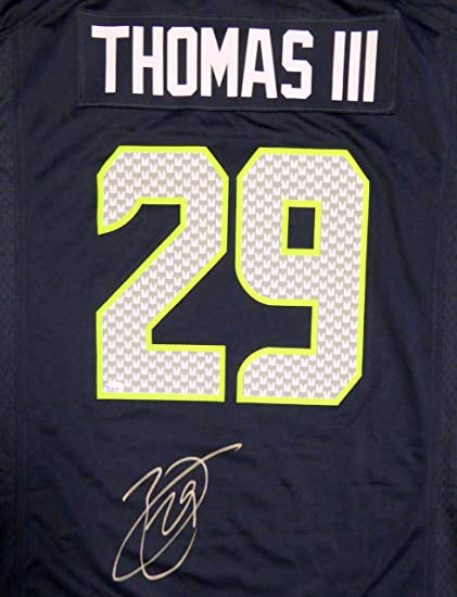 Amazon.com: Seahawks Earl Thomas Autographed Blue Authentic Jersey ...