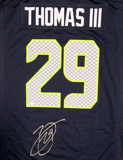 Wholesale Seattle Seahawks Earl Thomas Autographed Blue Nike Jersey Size XL  free shipping