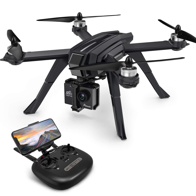 Potensic Drone Brushless GPS WiFi 5G con VideoCamera 1080P FPV RC 130° Grandangolare Drone Professionale D85