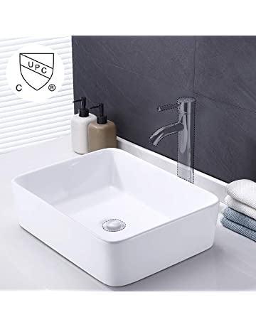 695946747cd KES cUPC Bathroom White Rectangular Vessel Sink Above Counter Countertop  Porcelain Bowl Sink for Lavatory Vanity