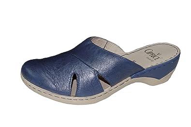 Damen Leder Clogs blau Caprice Damen Pantolette 9-27351-28-864 Größe 37 bis 40,5, Damen Größen:38;Farben:blau