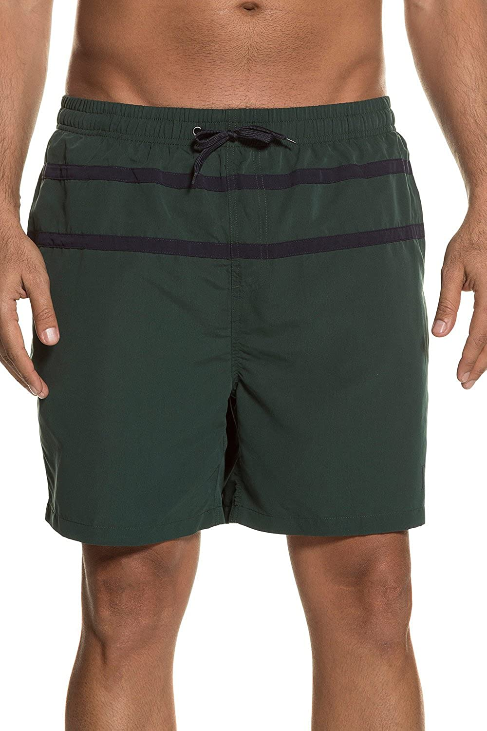JP 1880 Men's Big & Tall Contrast Stripe Quick Dry Swim Shorts 711345