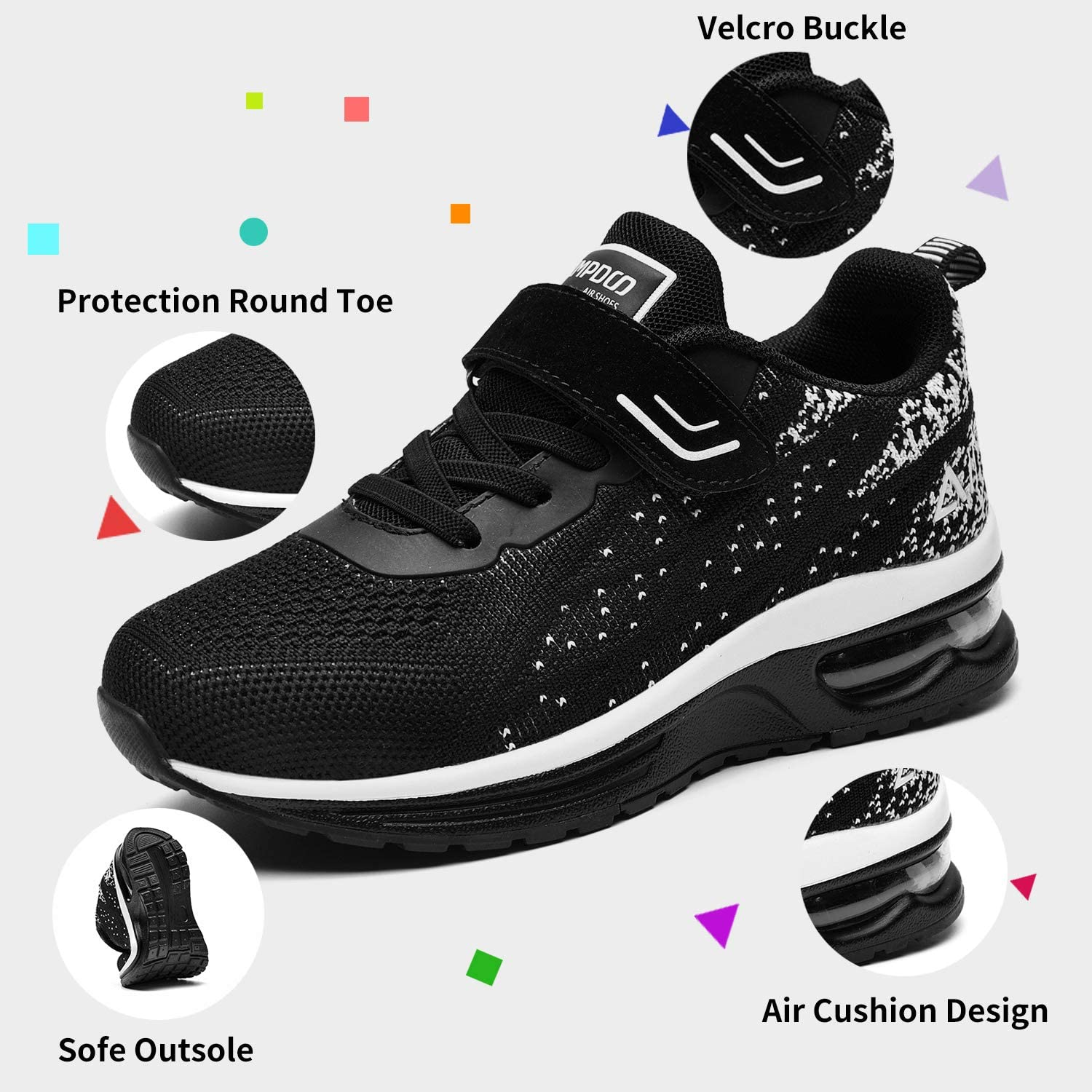Kids Running Shoes Size 1 Boys Trainers Teenager Sneakers Unisex Outdoor  Jogging Sports Shoes Lightweight Comfortable Junior Walking Shoes  Breathable Fashion Athletic Gymnastics Fitness Shoes Blue Shoes Sports &  Outdoor Shoes
