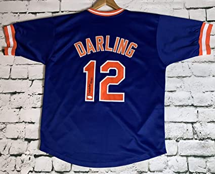 half off d301f dabcf Ron Darling Signed Autographed New York Mets Throwback ...