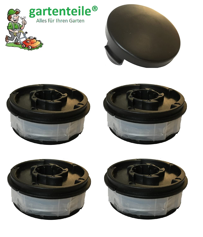 6 Spulen Set passend für Gardenline Elektro Rasentrimmer GLR 455 456 457 458 459