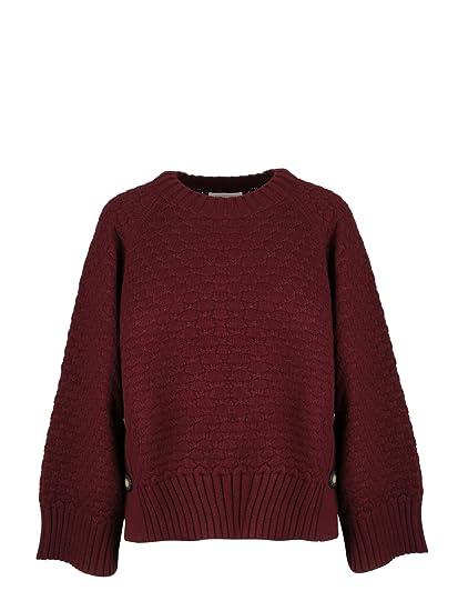 SEE BY CHLOÉ Maglione Donna CHS18AMP1451056A Cotone Bordeaux  Amazon.it   Abbigliamento e95dd2f92fc