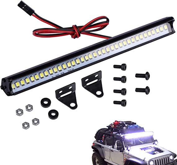 Rc Light Bar Roof Led Lamp Kit For Traxxas Trx4 Slash Rustler Axial Scx10 Arrma Tamiya Hpi Losi Hsp Wraith D90 Gen8 1 10 1 8 Rc Crawler Truck Toys Games Amazon Com