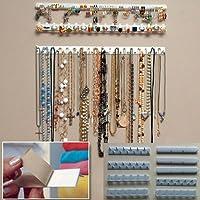 9-in-1autoadesivi Jewelry organizer portaoggetti, espositore, collana display Hanger ganci per orecchini collana anello appeso