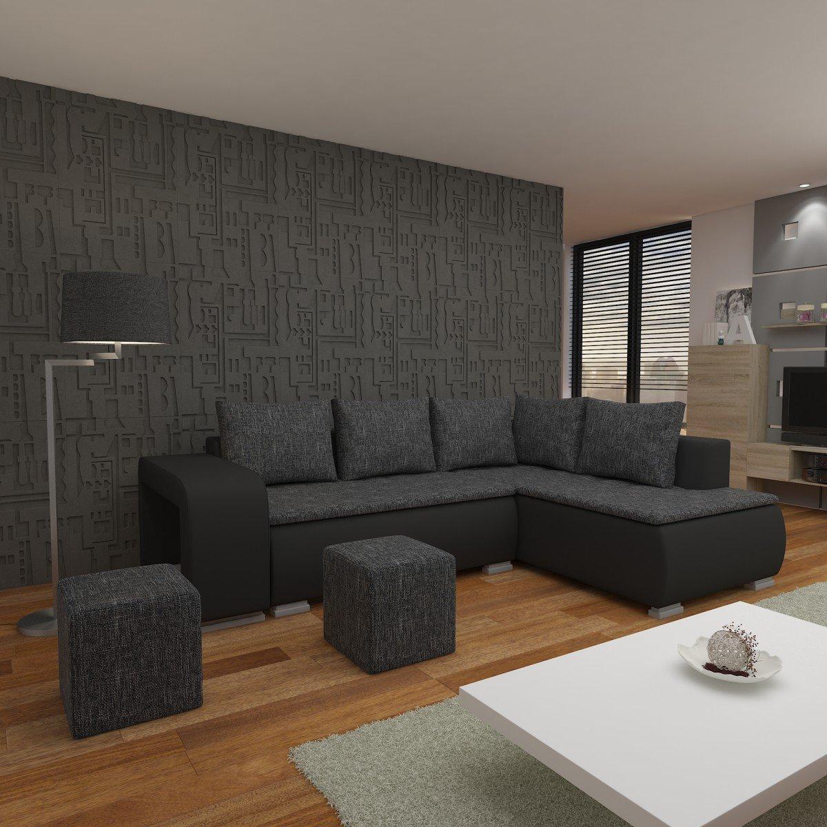schwarze eckcouch finest couch schwarz wohnzimmer grau weis sofa leder ebay eckcouch with. Black Bedroom Furniture Sets. Home Design Ideas