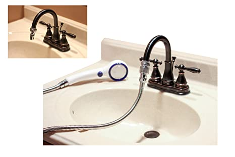 Peachy Smarterfresh Quick Connect Sink Faucet Sprayer Set Metal Detachable Faucet Sink Hose Attachment With Handshower For Rinsing Hair Washing Pet Beutiful Home Inspiration Truamahrainfo