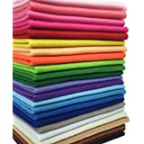24pcs Thick 1.4mm Soft Felt Fabric Sheet Assorted Color Felt Pack DIY Craft Sewing Squares Nonwoven Patchwork (3030cm)