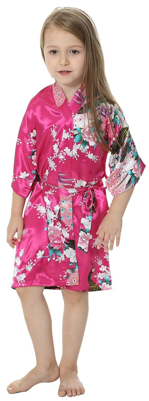 joytton Kimono B075L7SGVL spa Albornoz de raso para spa Cumpleaños ...
