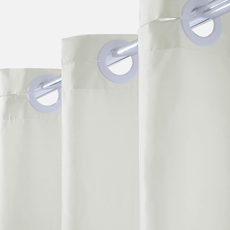 Cortina Ducha Tela Antimoho,Poli/éster Cortinas de Ba/ño Decorativas Impermeable /& Lavable,Crema Duchas de Ba/ño Cortinas con Ojales-180x210cm Largo.