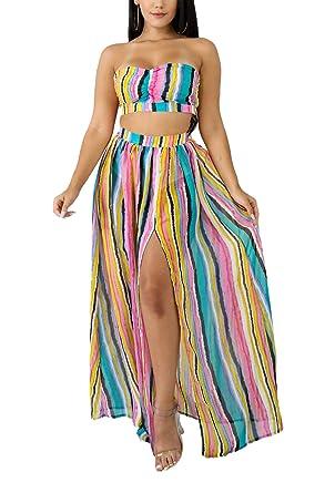 e729546096 Amazon.com  LROSEY Womens 2 Piece Outfits Long Sleeve Bodycon Jumpsuits  Skinny Long Pants Set Floral Print Bodysuit Plus Size  Clothing