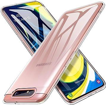 iBetter para Funda Samsung A80 Funda, TPU con Superficie Mate ...