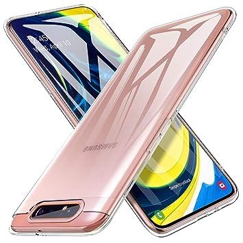 iBetter para Funda Samsung A80 Funda, TPU con Superficie Mate Silicona Fundas para Samsung A80 Smartphone.Transparente