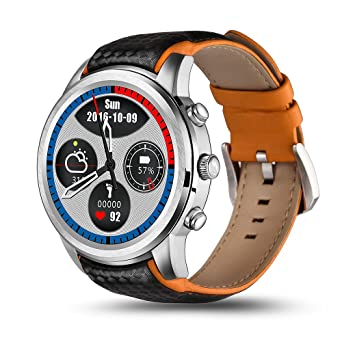 Lemfo LEM5 Smartwatch Android 1 IMEI Slot SIM 3 G WiFi Podomètre Argent
