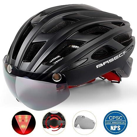 Bike Helmet Light >> Amazon Com Basecamp Bike Helmet Light Weight Bicycle Helmet Cpsc