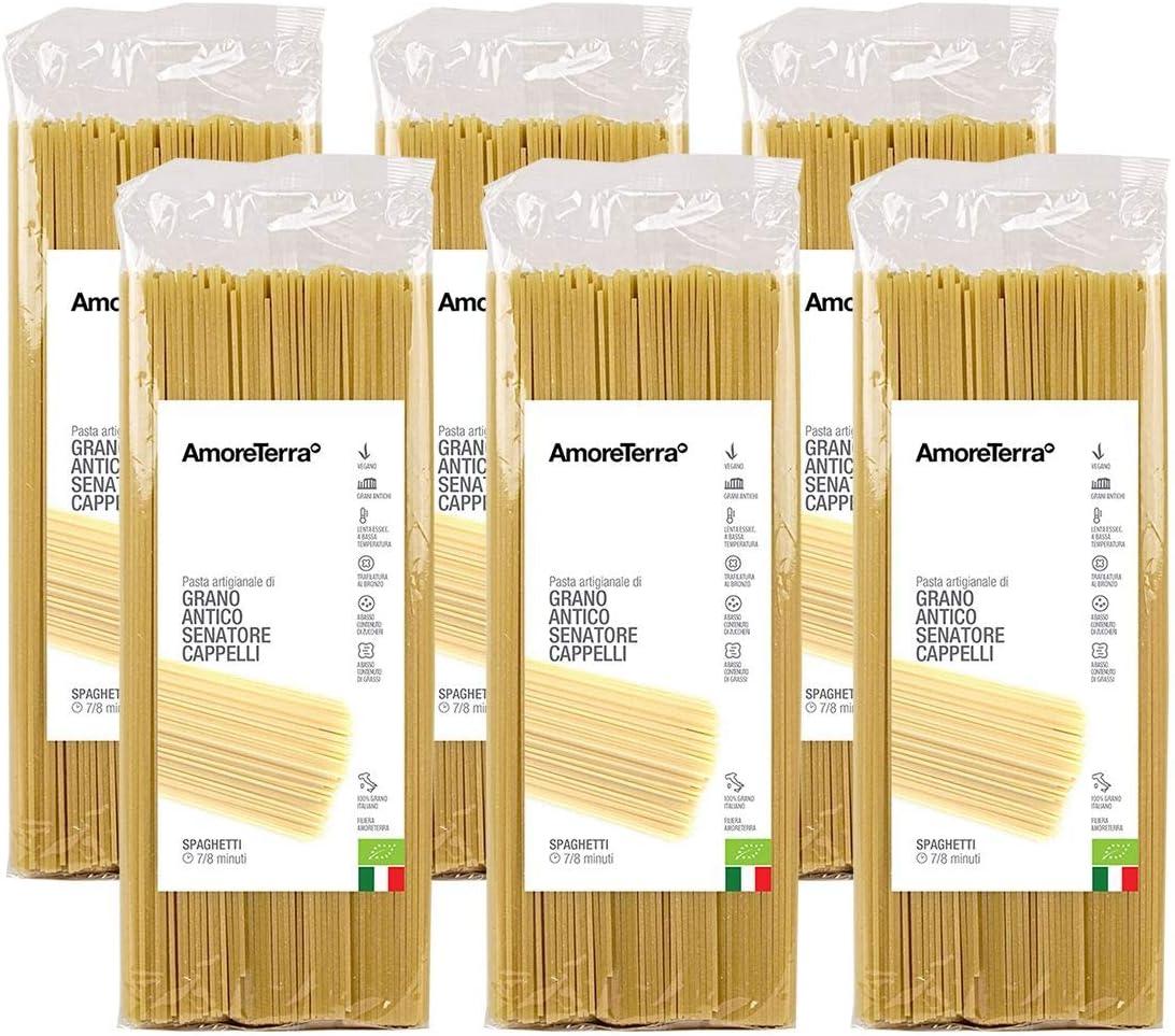 Spaghetti bio senatore cappelli 500g, pasta artigianale amoreterra (6 pz.)