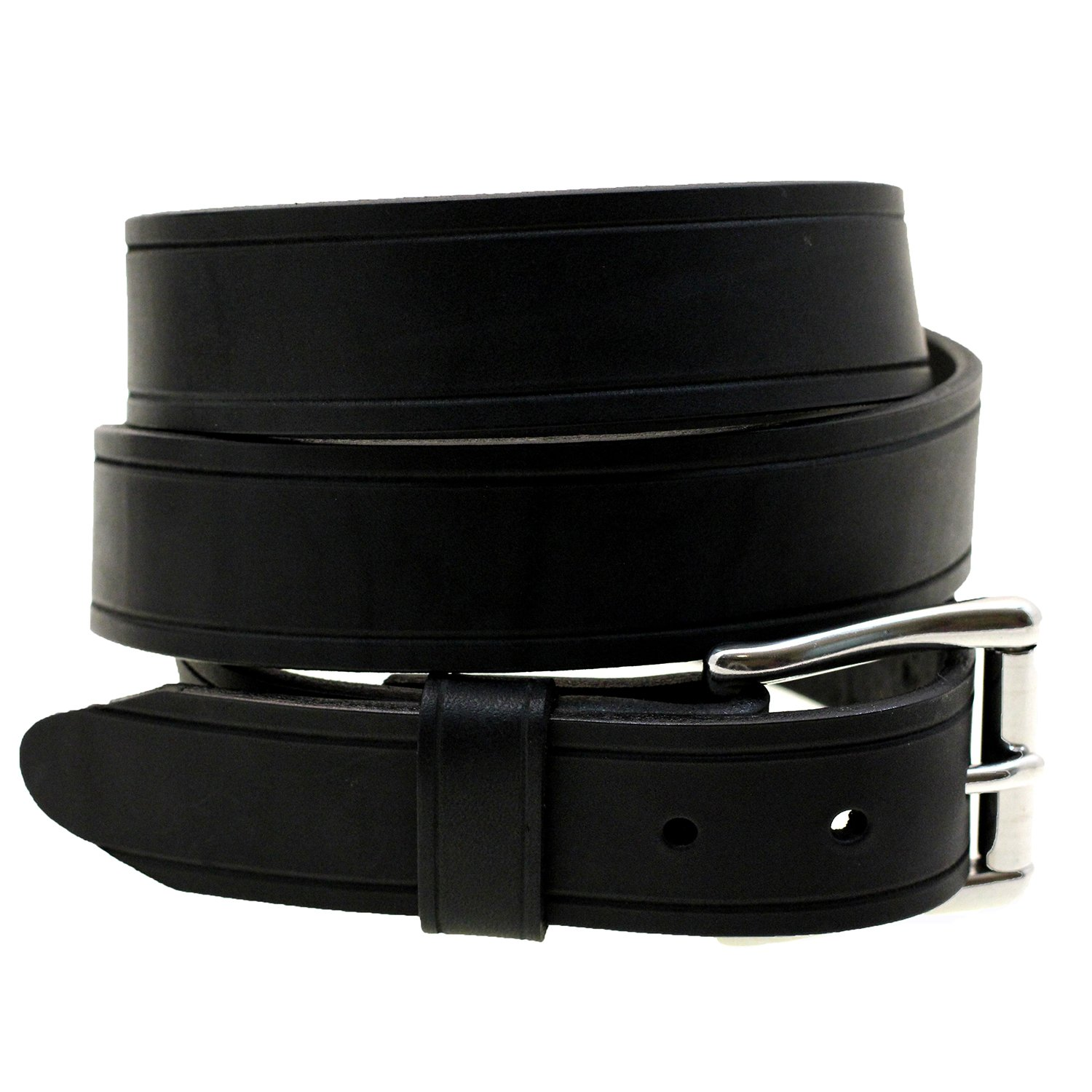83f8172bd80 Mens 1 1 2 Black Latigo Leather Belt With Saddle Groove Made In USA at  Amazon Men s Clothing store