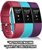 Rapidotzz Pack of 3 Belts/Straps Compatible for Fitbit Charge2 Bands Wristband Straps (Set 5)