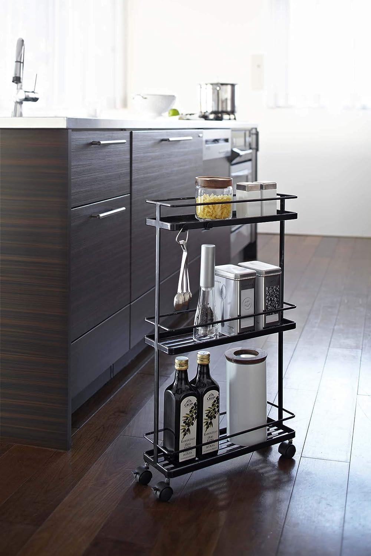 YAMAZAKI home Tower Kitchen Storage Cart Casual White