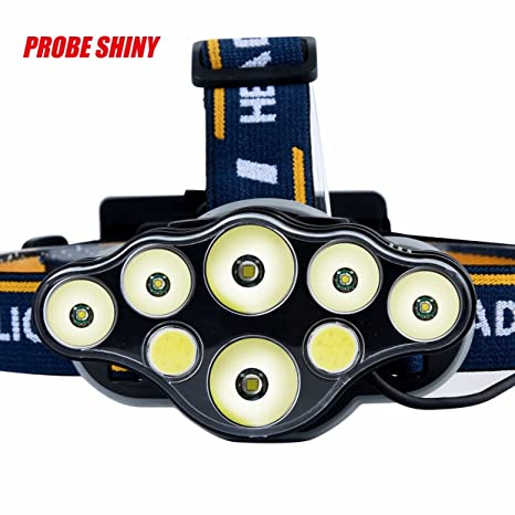 Linterna frontal EUzeo max 30000 lumens 6x XM-L T6+ 2xCOB LED Rechargeable Headlamp 4 modelos 18650 Bombillas ...