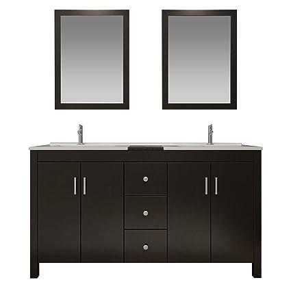 Ariel K072d Esp Hanson 72 Solid Birch Wood Double Sink Bathroom