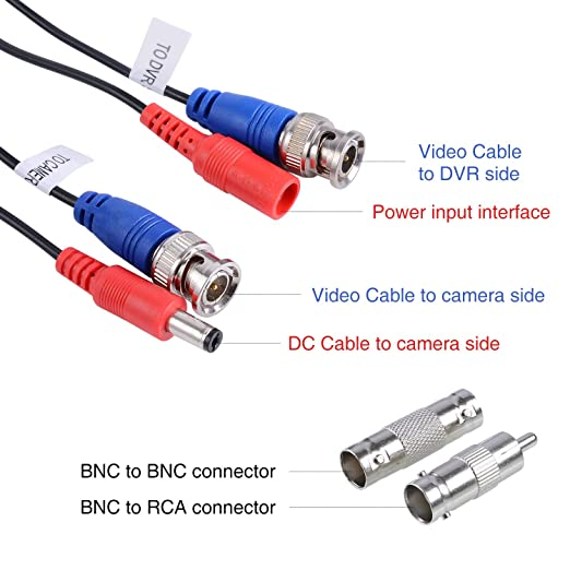 Surprising Amazon Com Annke 100 Feet 30 Meters Security Camera Cable 2 In Wiring 101 Capemaxxcnl