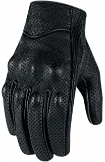 PROANTI/® Summer Motorcycle Gloves Leather /& venting Mesh XS to XXXL Summer Motorbike Gloves