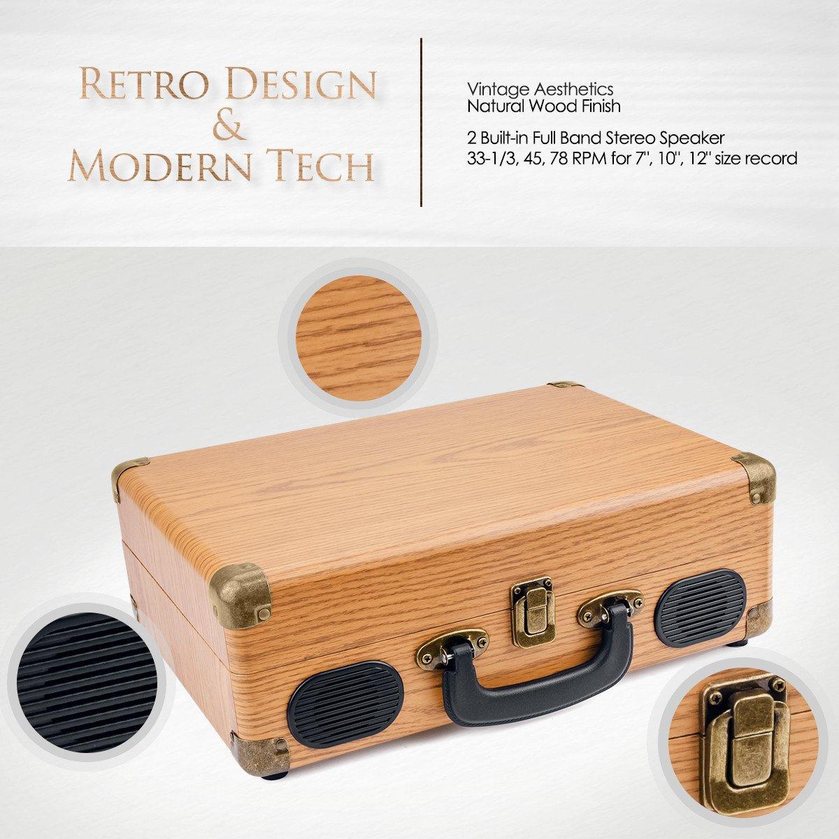 Popsky - Reproductor de grabación, Tocadiscos Vintage, 3 ...