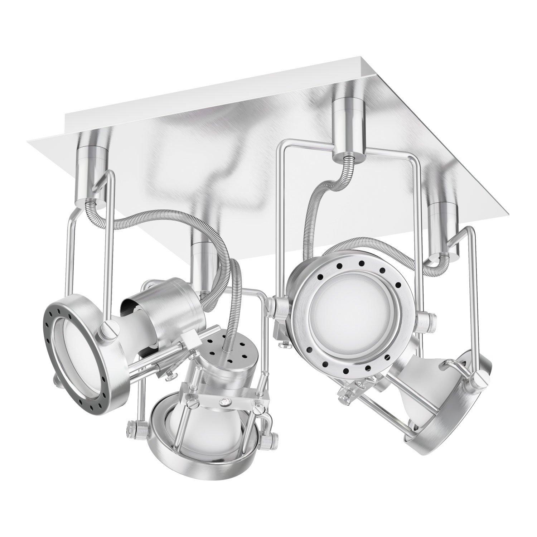 Ledscom  Deckenleuchte ERAS, vierflammig inkl. 460lm LED GU10 Lampen, warm-weiß