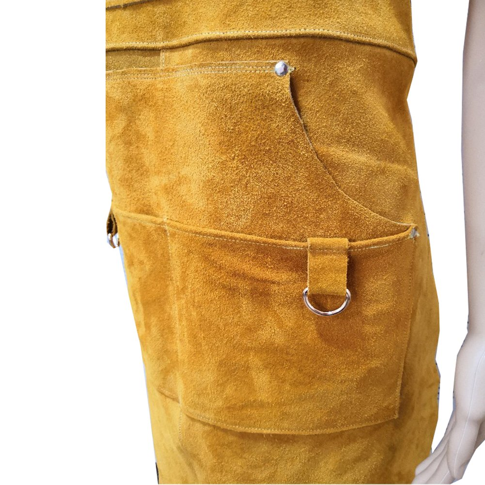 A Leather Welding Apron Protective Clothing For Welders –Heavy Duty Heat & Flame-Resistant Work Apron Tool Apron With 5 Pocket For Men And Women Welding Barbecue Grinding(HSW-112) by Hersent (Image #3)