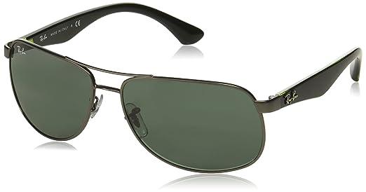 d7c5658fd2 Amazon.com  Ray-Ban RB3502 61mm Gunmetal Black Green w  Green Classic G-15  Sunglasses  Ray-Ban  Clothing