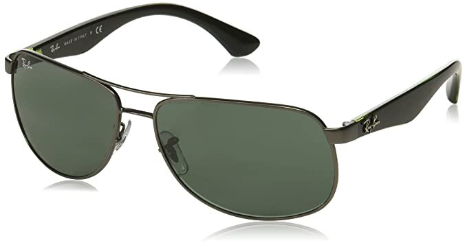 6ed94620ab Ray-Ban RB3502 61mm Gunmetal Black Green w  Green Classic G-15 Sunglasses