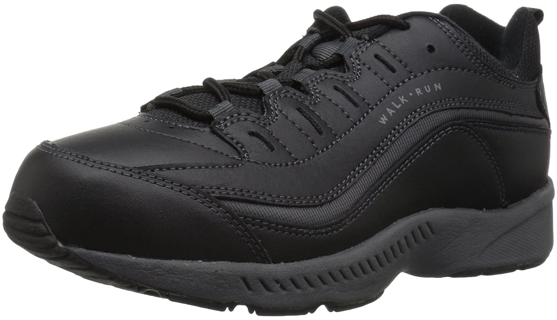 Easy Spirit Womens Romy Fashion Sneaker B014POH6IU 6 E US Black/Dark Grey Leather Black/Dark Grey Leather 6 E US