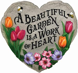 Spoontiques 13242 Beautiful Garden Stepping Stone, Multicolored