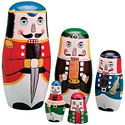Miles Kimball Nutcracker Nesting Dolls: Toys & Games