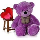 Buttercup Teddy Bear Stuffed Animals Plush Soft Cuddly Bear - 3 Feet (91 cm, Purple)