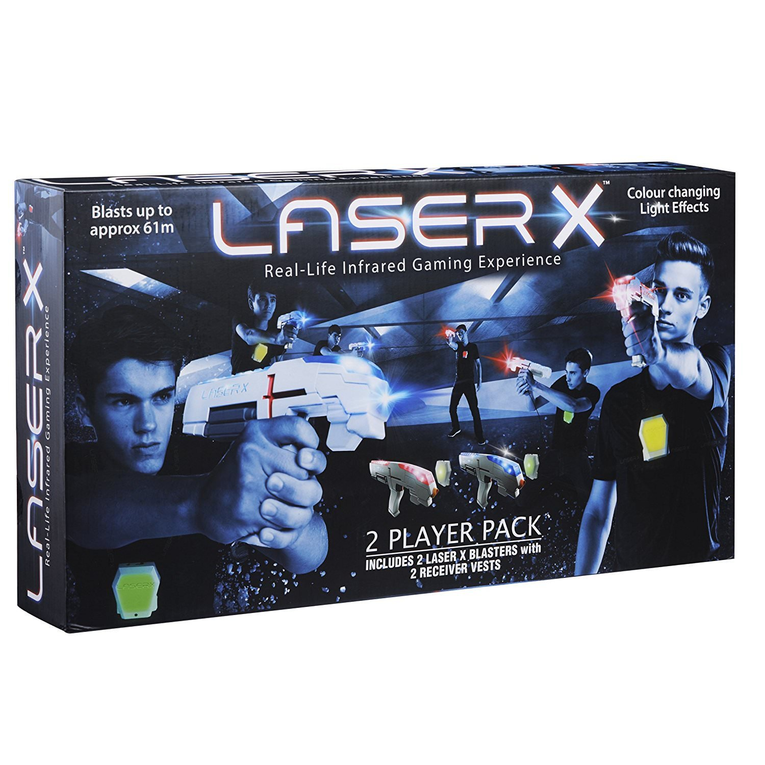 Laser X 88016 Two Player aevCnc Laser Gaming Set, 3 Units