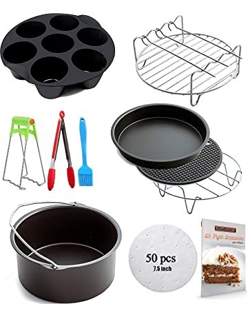 Ptsaying Air Fryer Accessories 10 sets +20 cookbook, air fryer basket baking pan,