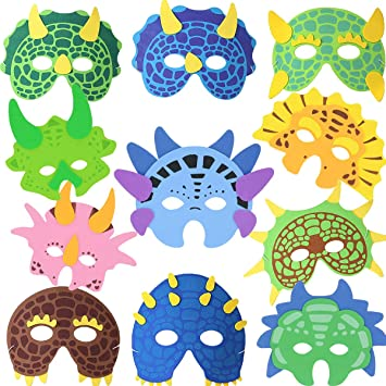 BESTZY Máscaras de Dinosaurio 11 Piezas Máscaras para ...