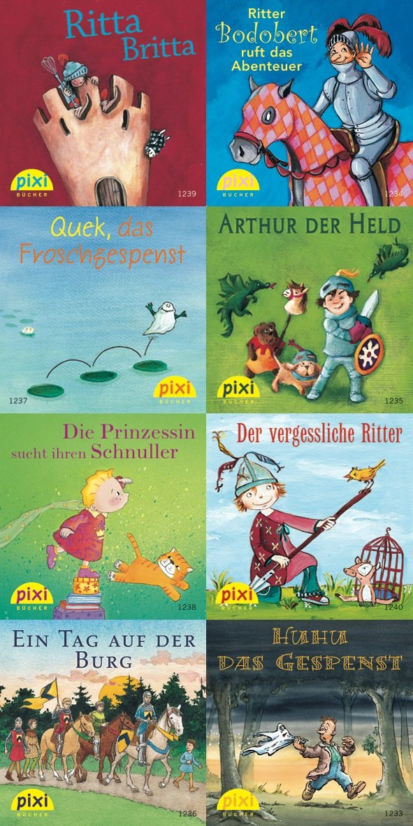 Pixi-Bundle 8er Serie 142: Mit Pixi auf der Ritterburg