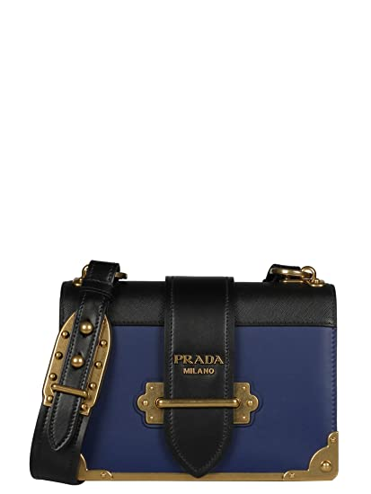 931e34986ba ... where to buy prada womens 1bd0452bb0f017c blue leather shoulder bag  c96e9 b9145