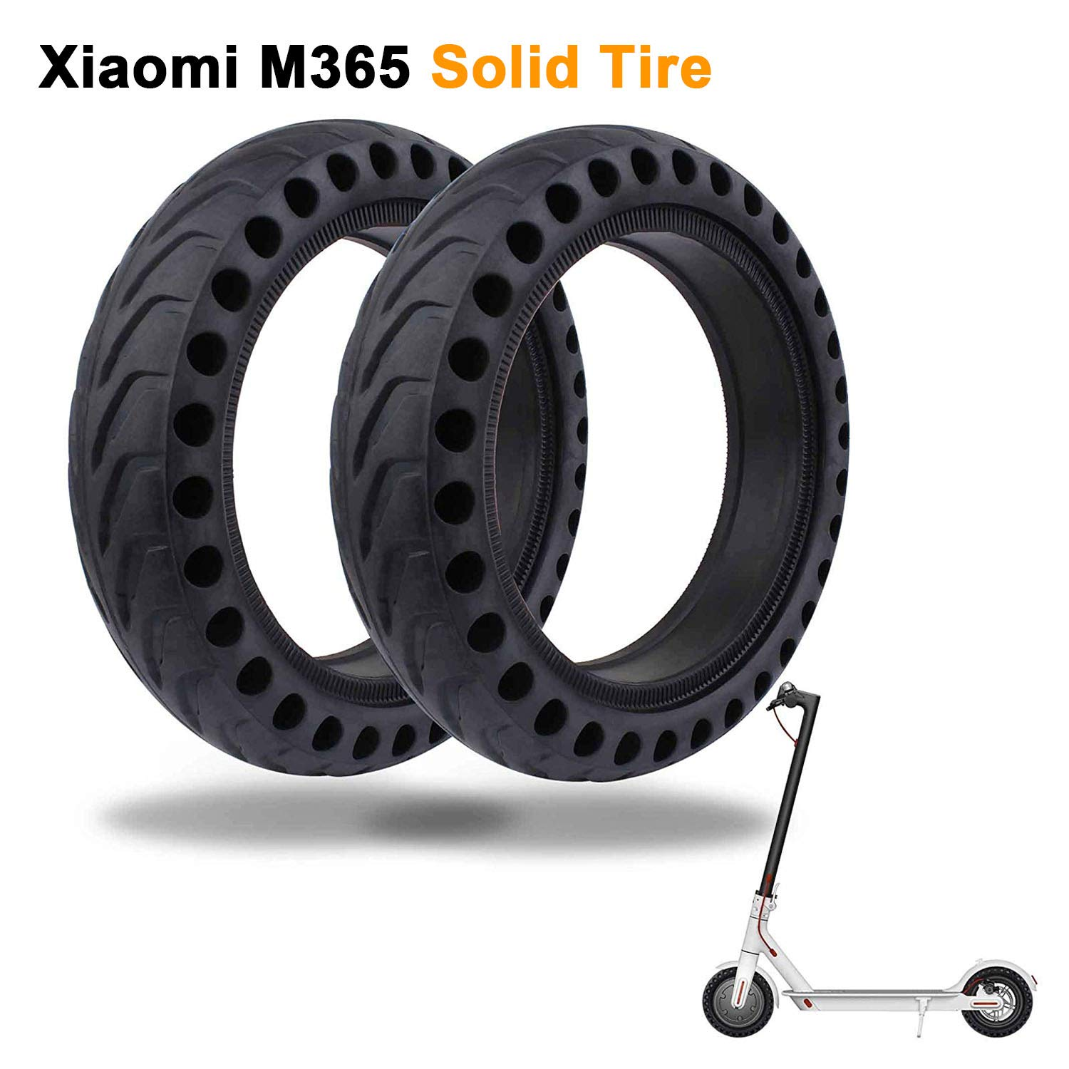 LuYang Solid Tire Replacement for Electric Scooter Xiaomi Mi m365 / gotrax gxl V2,8.5 inches Solid Tires Explosion-Proof Tire for Xiaomi Mijia M365 Electric Scooter/GOTRAX GXL V2 Scooter【Two Piece】 by LuYang