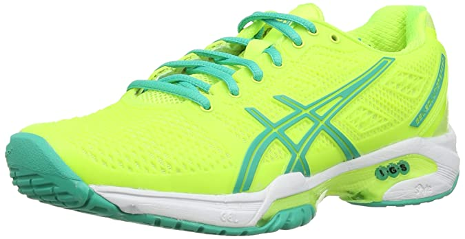 Asics Gel-Solution Speed 2, Tennis Femmes - Jaune (Flash Yellow/Mint/Sharp Green 767), 44